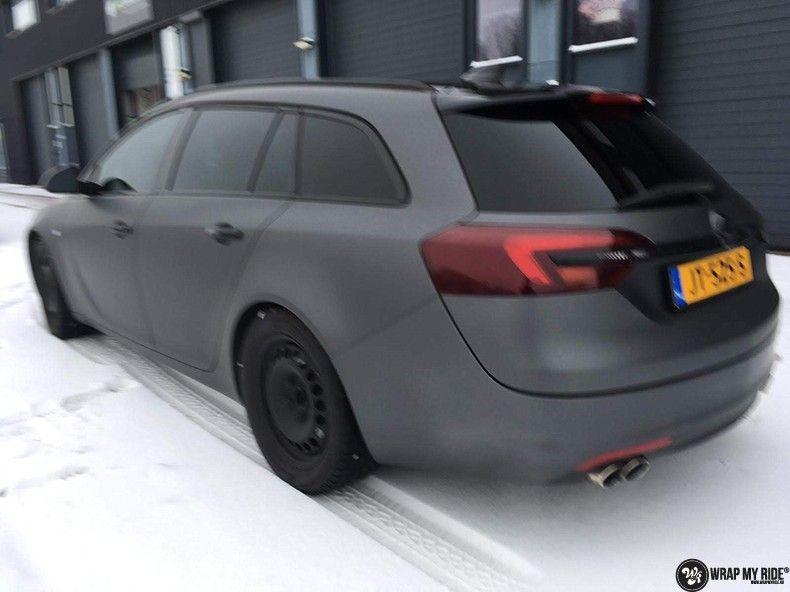 opel insignia matte dark grey, Carwrapping door Wrapmyride.nu Foto-nr:12589, ©2019