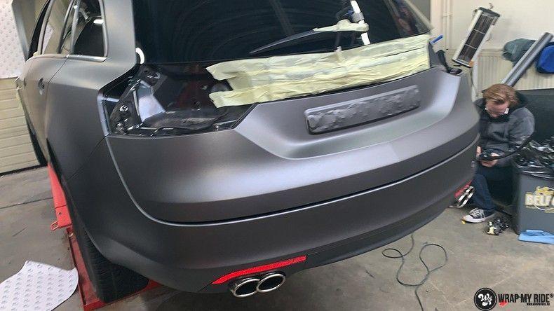 opel insignia matte dark grey, Carwrapping door Wrapmyride.nu Foto-nr:12590, ©2019