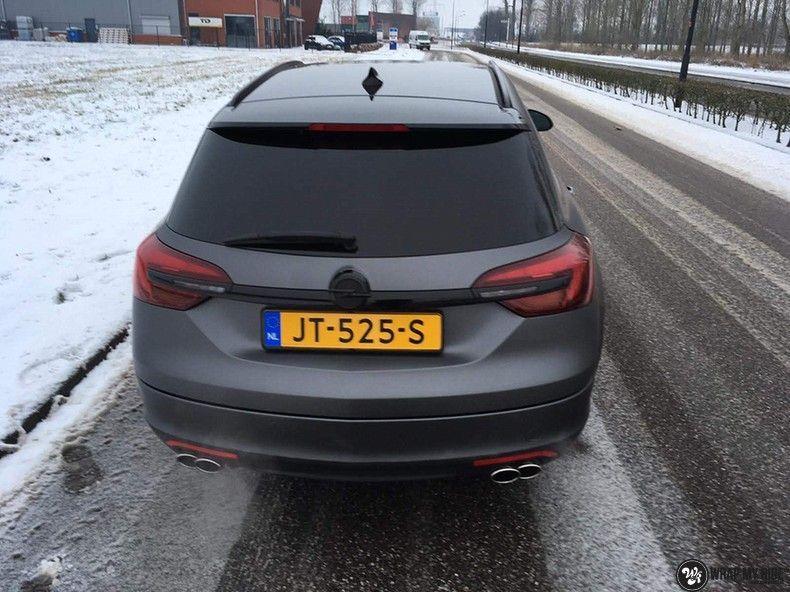opel insignia matte dark grey, Carwrapping door Wrapmyride.nu Foto-nr:12594, ©2019