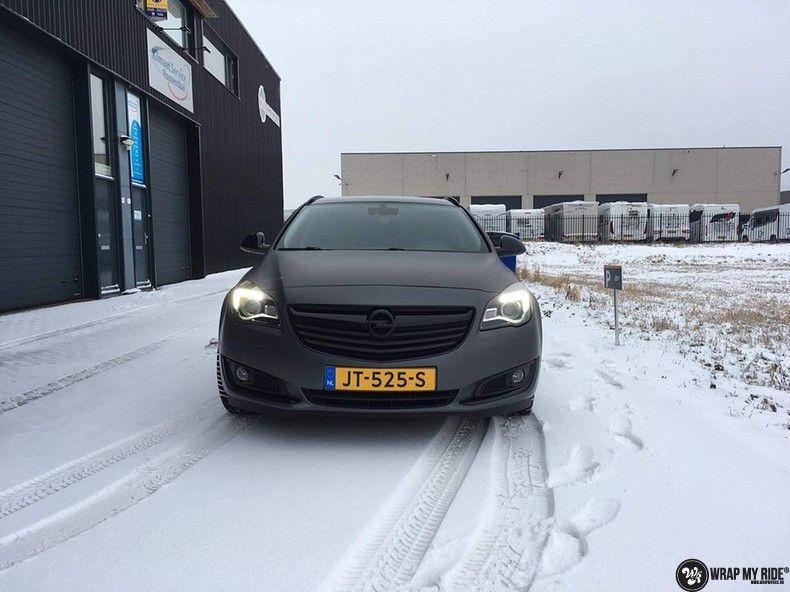 opel insignia matte dark grey, Carwrapping door Wrapmyride.nu Foto-nr:12583, ©2019