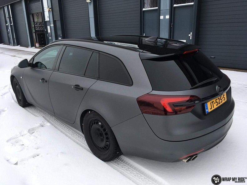 opel insignia matte dark grey, Carwrapping door Wrapmyride.nu Foto-nr:12596, ©2019