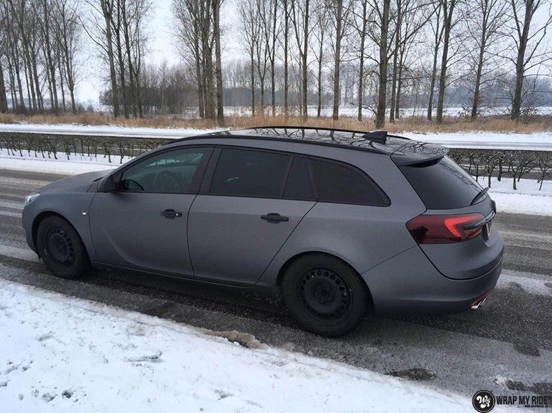 opel insignia matte dark grey, Carwrapping door Wrapmyride.nu Foto-nr:12585, ©2019