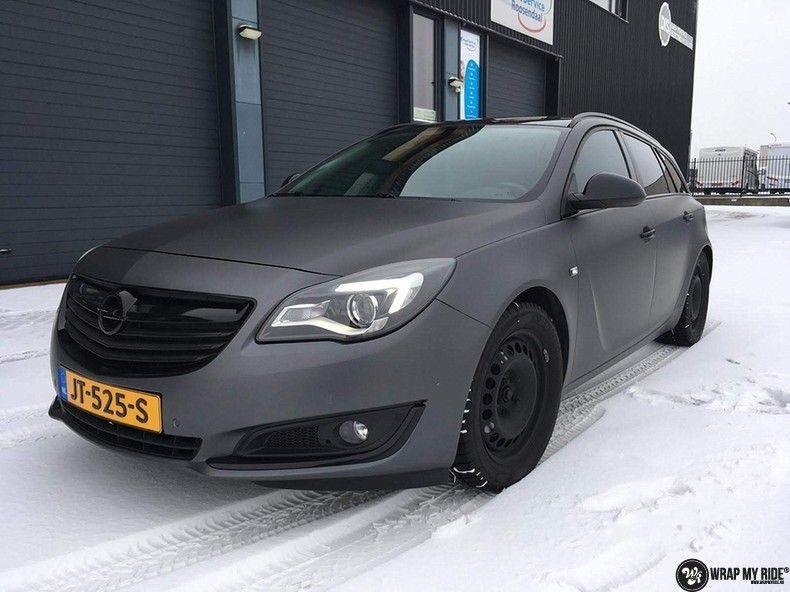 opel insignia matte dark grey, Carwrapping door Wrapmyride.nu Foto-nr:12586, ©2019