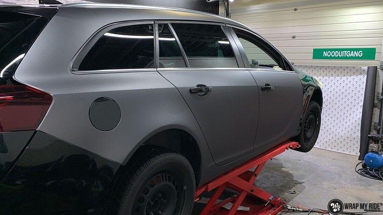 opel insignia matte dark grey, Carwrapping door Wrapmyride.nu Foto-nr:12588, ©2019