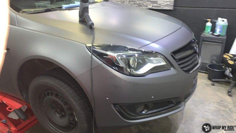 opel insignia matte dark grey, Carwrapping door Wrapmyride.nu Foto-nr:12600, ©2019
