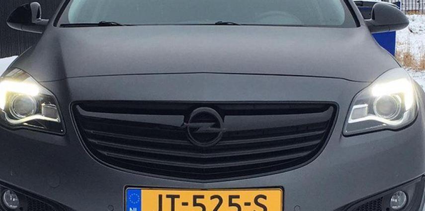 opel insignia matte dark grey