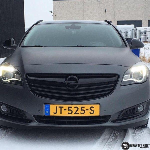 opel insignia matte dark grey, Carwrapping door Wrapmyride.nu Foto-nr:12612, ©2019