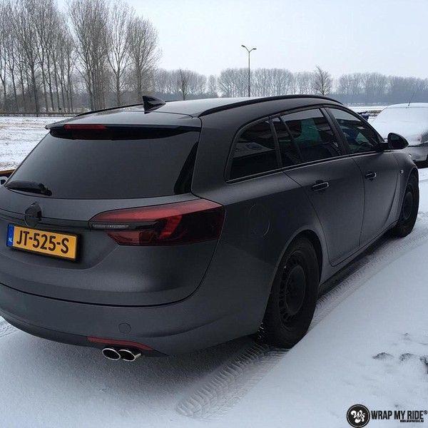 opel insignia matte dark grey, Carwrapping door Wrapmyride.nu Foto-nr:12615, ©2019