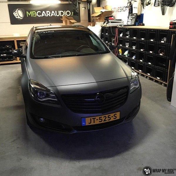 opel insignia matte dark grey, Carwrapping door Wrapmyride.nu Foto-nr:12617, ©2019