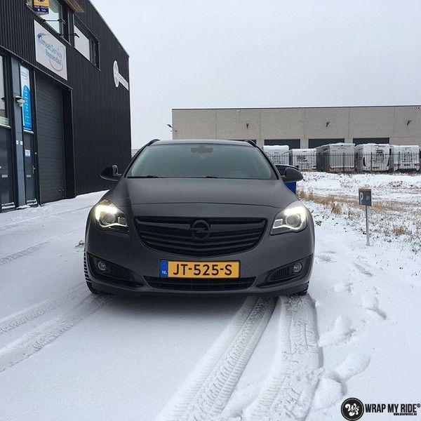 opel insignia matte dark grey, Carwrapping door Wrapmyride.nu Foto-nr:12618, ©2019