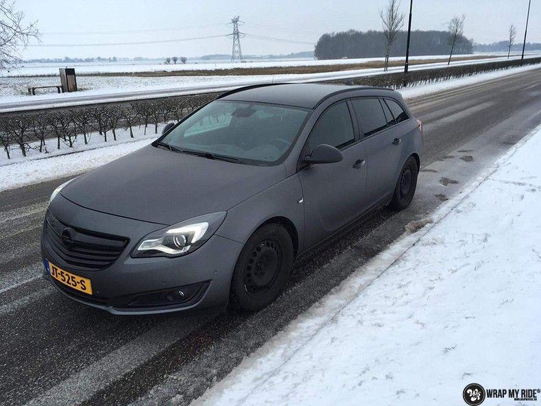 opel insignia matte dark grey, Carwrapping door Wrapmyride.nu Foto-nr:12603, ©2019
