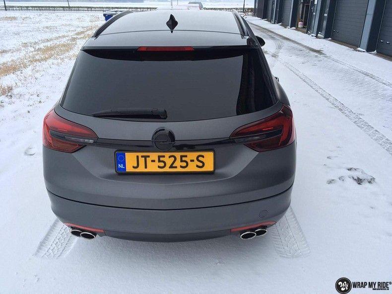 opel insignia matte dark grey, Carwrapping door Wrapmyride.nu Foto-nr:12605, ©2019