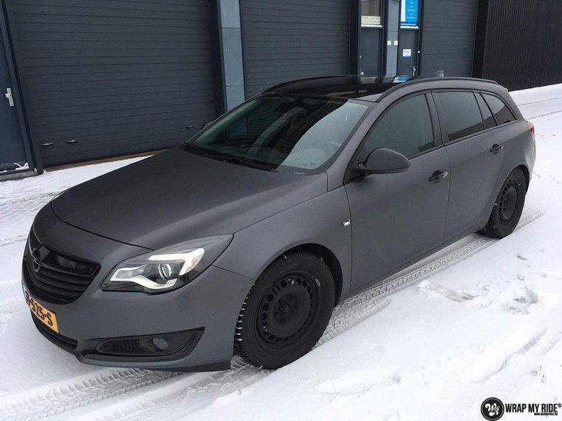 opel insignia matte dark grey, Carwrapping door Wrapmyride.nu Foto-nr:12604, ©2019