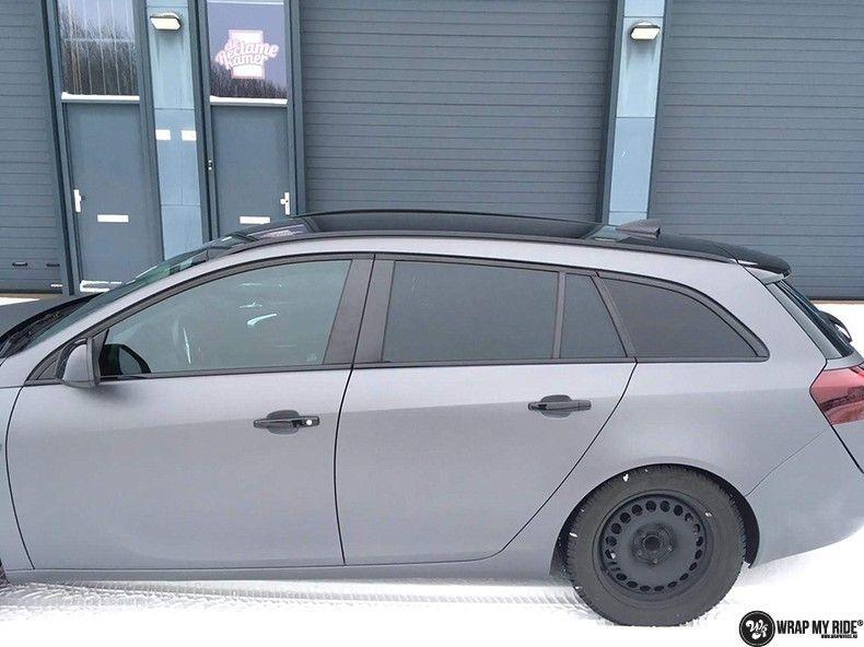 opel insignia matte dark grey, Carwrapping door Wrapmyride.nu Foto-nr:12606, ©2019
