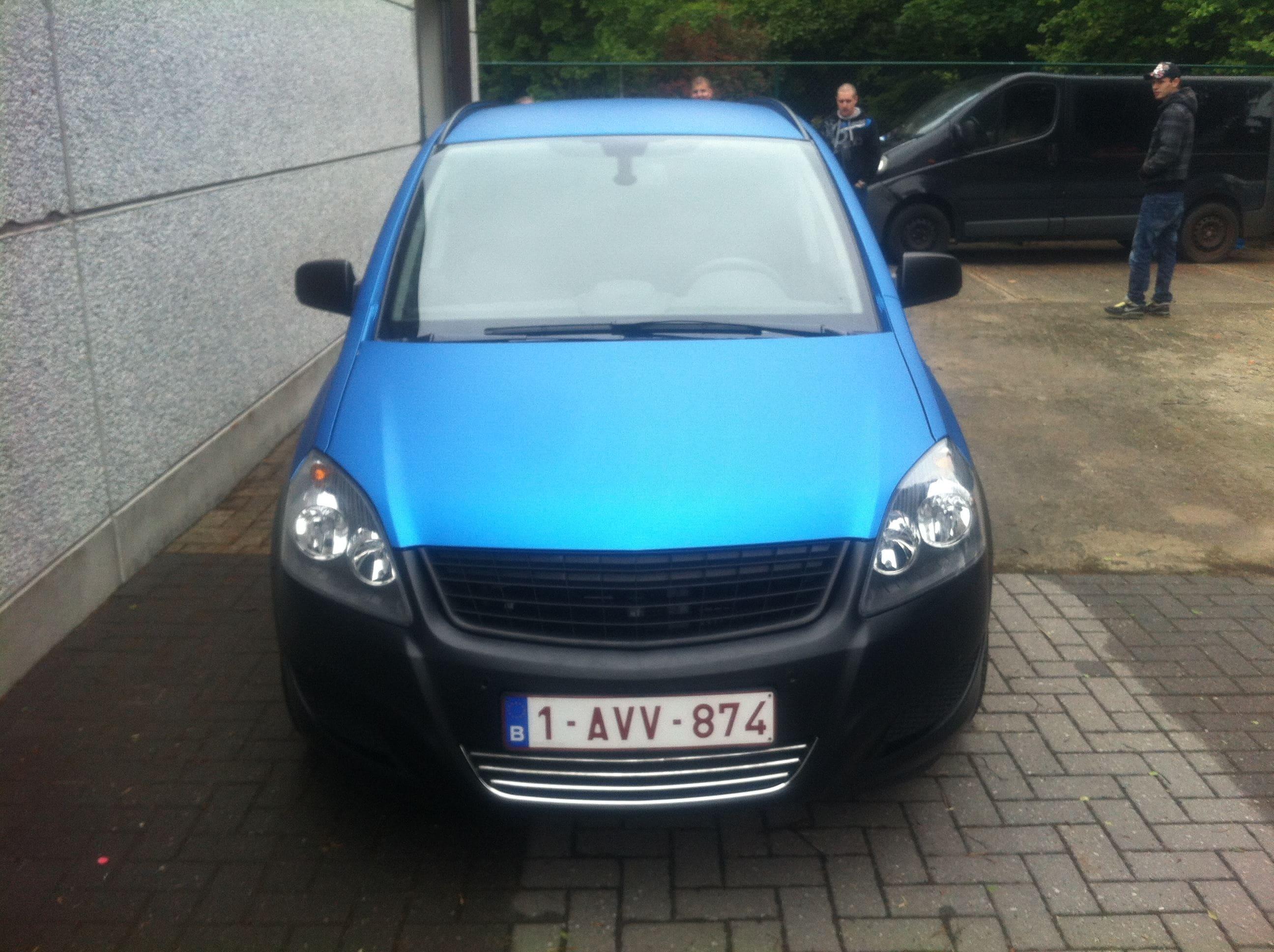 Opel Zafira met Two-Tone Wrap, Carwrapping door Wrapmyride.nu Foto-nr:6666, ©2021