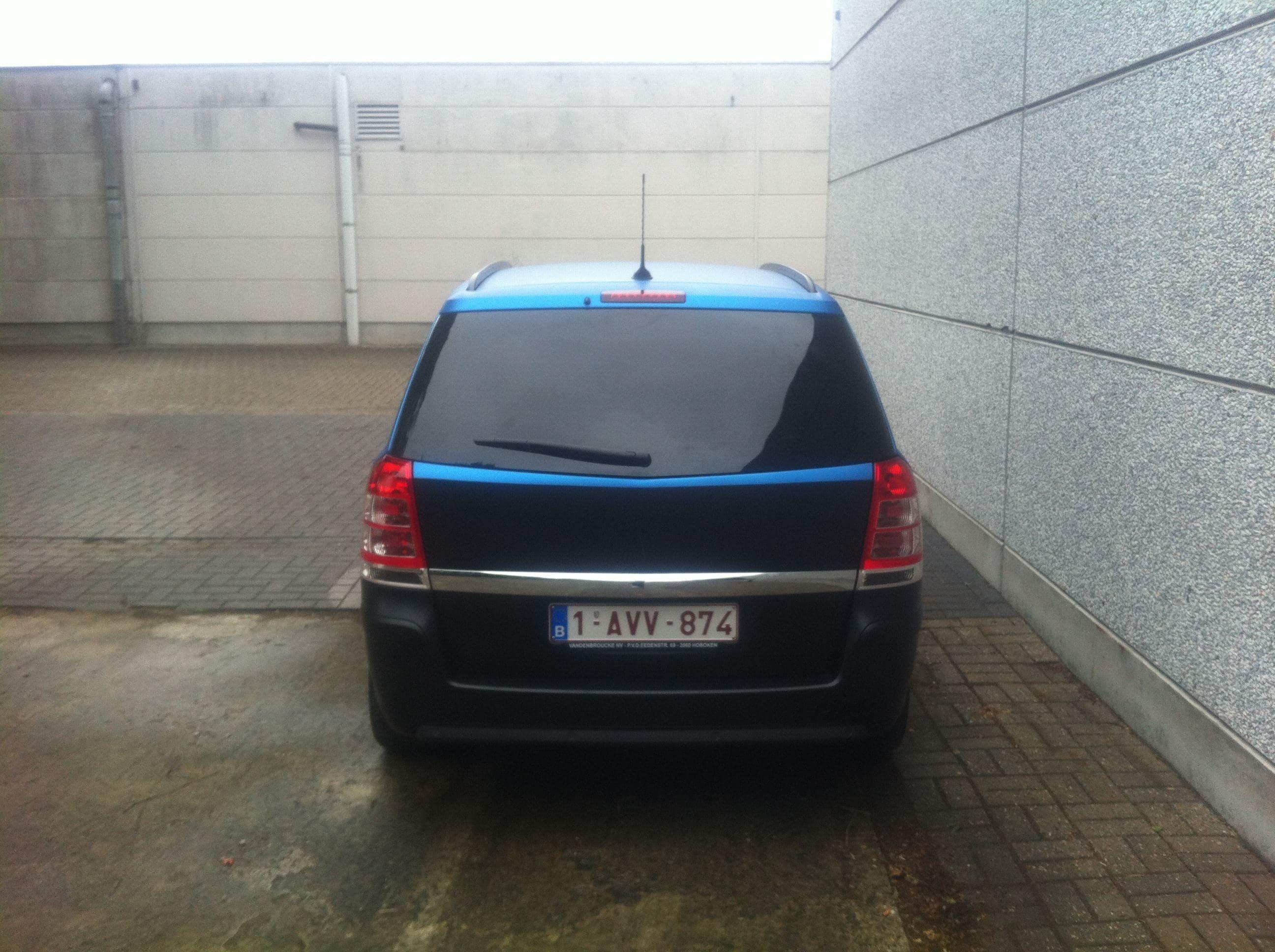 Opel Zafira met Two-Tone Wrap, Carwrapping door Wrapmyride.nu Foto-nr:6667, ©2021