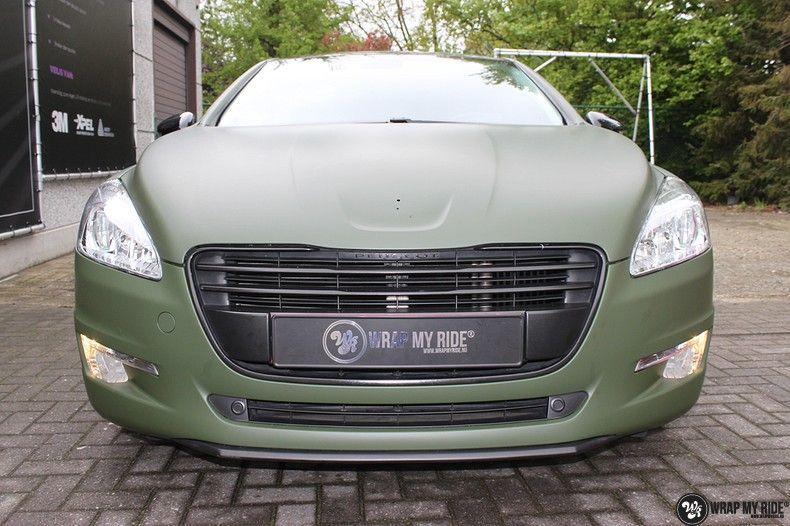Peugeot 508 3m matte military green, Carwrapping door Wrapmyride.nu Foto-nr:11384, ©2021