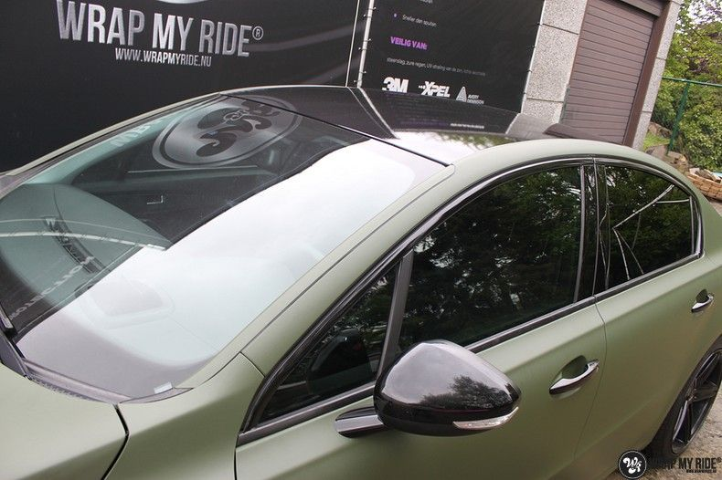 Peugeot 508 3m matte military green, Carwrapping door Wrapmyride.nu Foto-nr:11383, ©2021