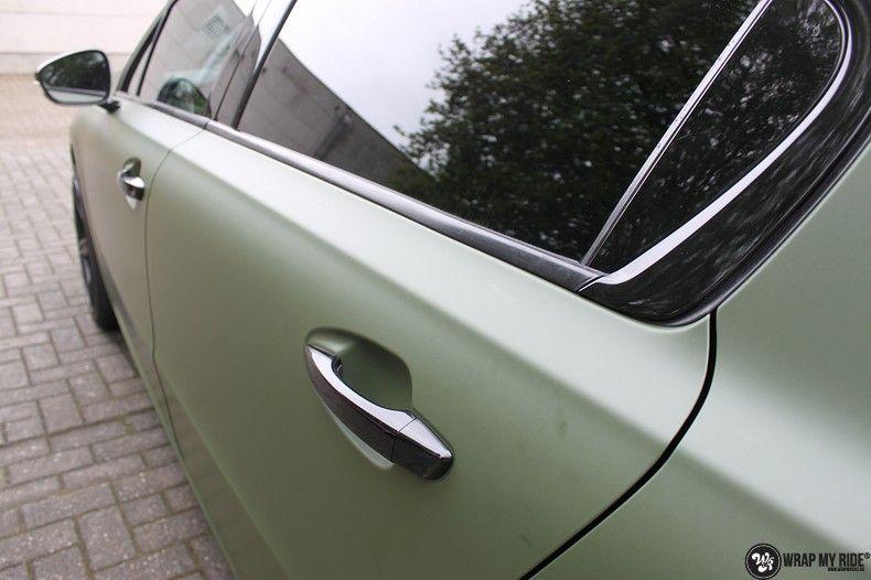 Peugeot 508 3m matte military green, Carwrapping door Wrapmyride.nu Foto-nr:11376, ©2021