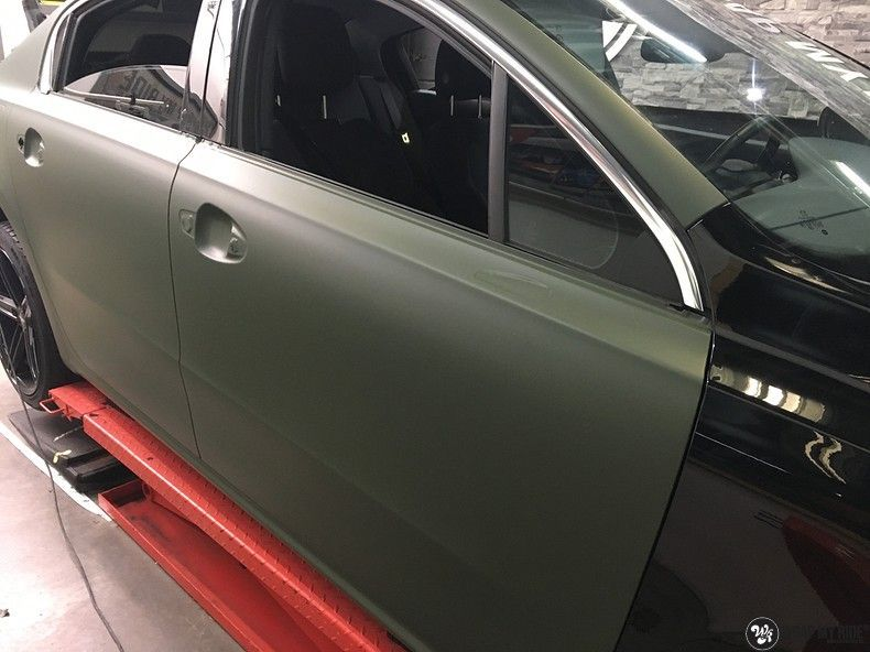 Peugeot 508 3m matte military green, Carwrapping door Wrapmyride.nu Foto-nr:11356, ©2021