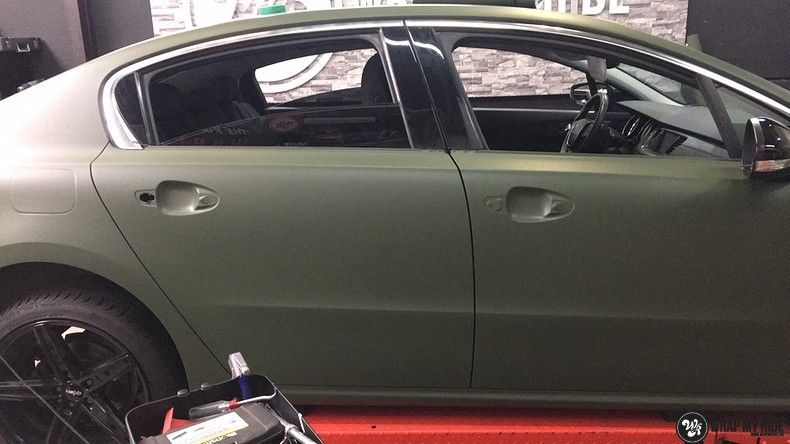 Peugeot 508 3m matte military green, Carwrapping door Wrapmyride.nu Foto-nr:11404, ©2020