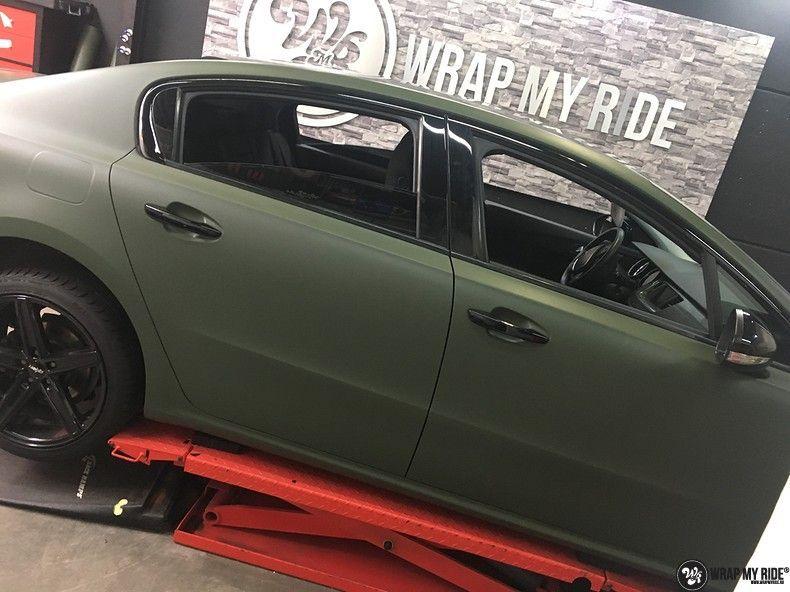 Peugeot 508 3m matte military green, Carwrapping door Wrapmyride.nu Foto-nr:11359, ©2021