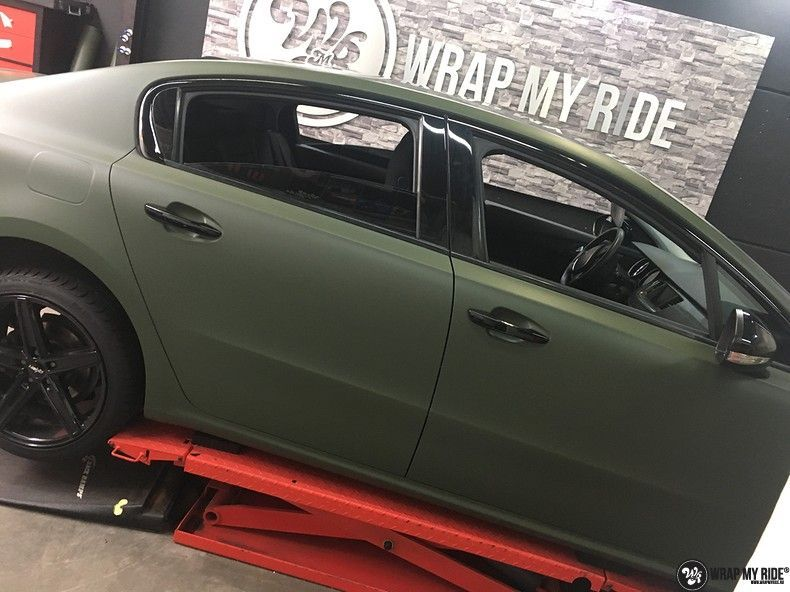 Peugeot 508 3m matte military green, Carwrapping door Wrapmyride.nu Foto-nr:11400, ©2020