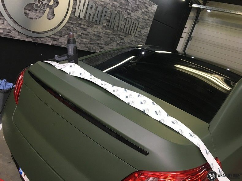 Peugeot 508 3m matte military green, Carwrapping door Wrapmyride.nu Foto-nr:11393, ©2020