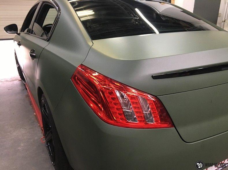 Peugeot 508 3m matte military green, Carwrapping door Wrapmyride.nu Foto-nr:11368, ©2021