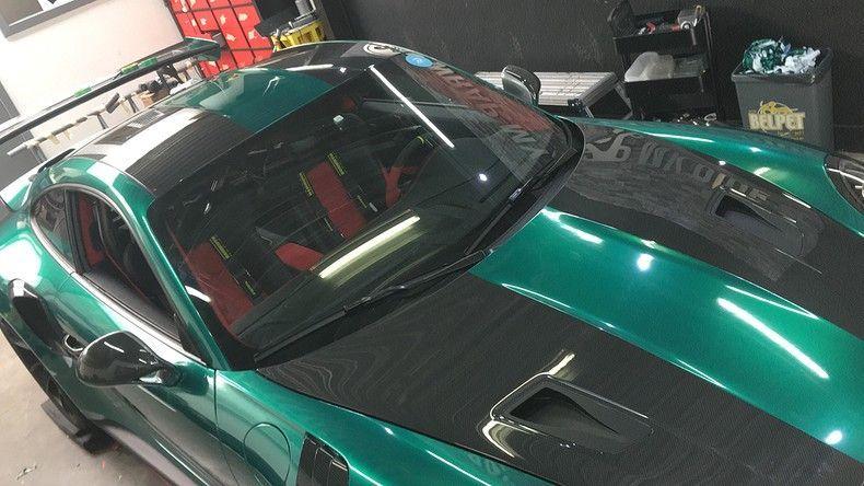 Porsche 911 GT2RS ASW Dark Grey Pearl, Carwrapping door Wrapmyride.nu Foto-nr:12224, ©2019