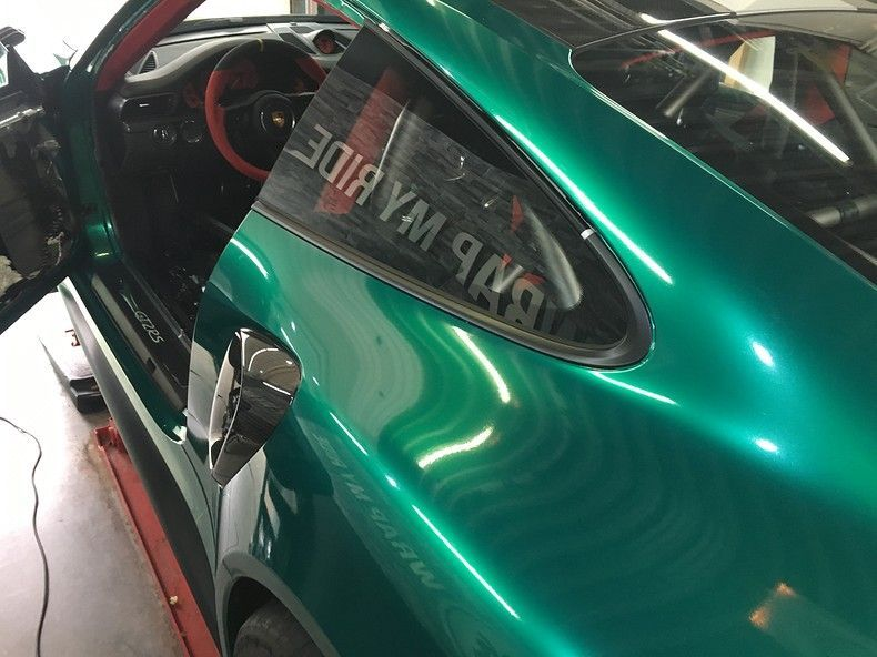 Porsche 911 GT2RS ASW Dark Grey Pearl, Carwrapping door Wrapmyride.nu Foto-nr:12230, ©2019