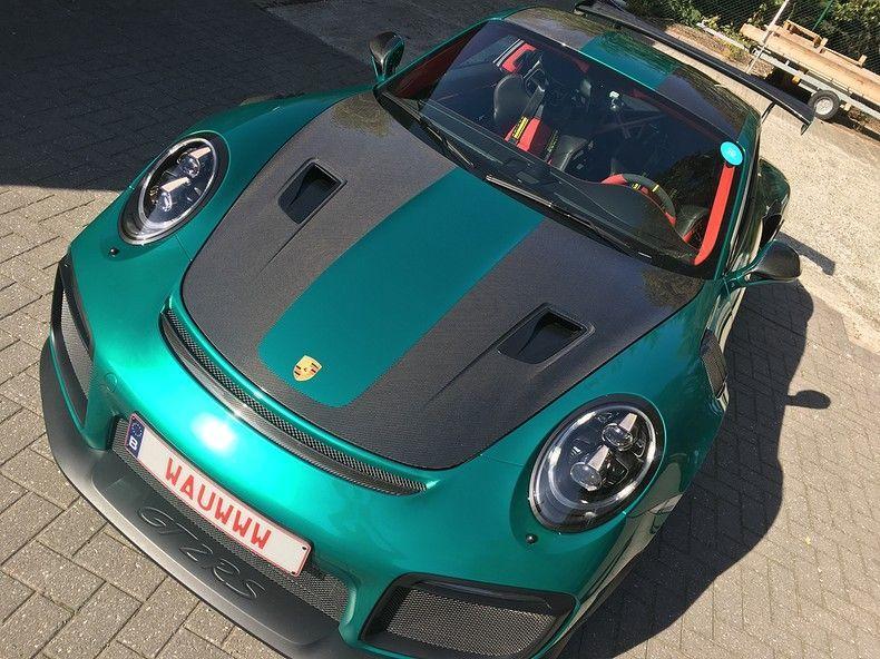 Porsche 911 GT2RS ASW Dark Grey Pearl, Carwrapping door Wrapmyride.nu Foto-nr:12200, ©2019