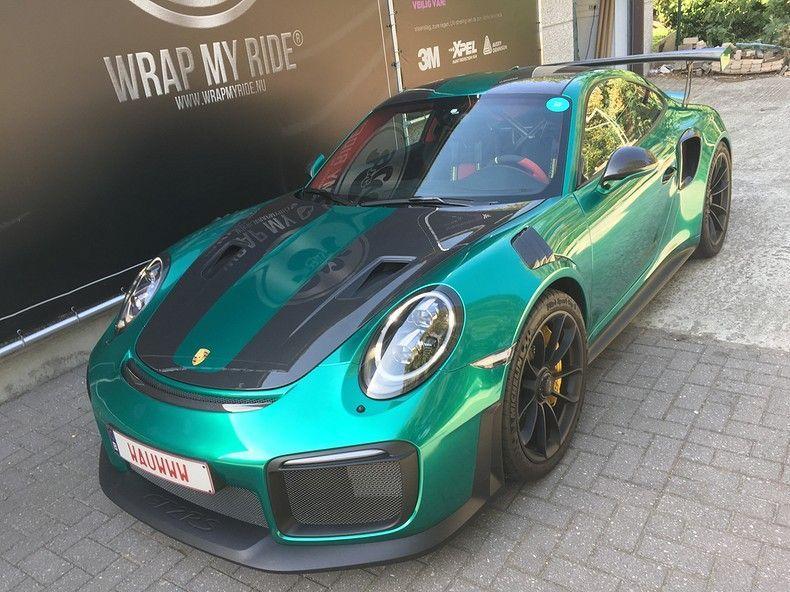 Porsche 911 GT2RS ASW Dark Grey Pearl, Carwrapping door Wrapmyride.nu Foto-nr:12194, ©2019