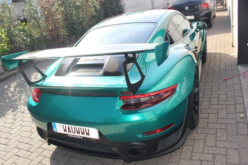 Porsche 911 GT2RS ASW Dark Grey Pearl, Carwrapping door Wrapmyride.nu Foto-nr:12214, ©2019