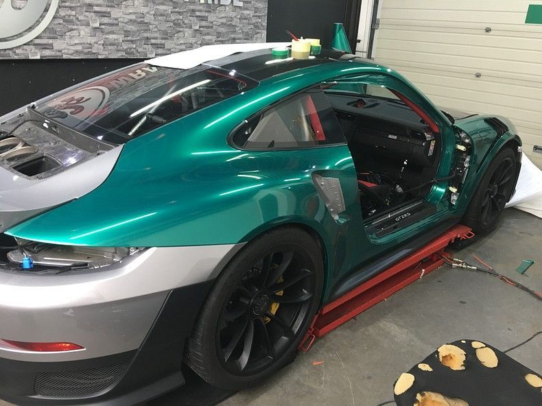 Porsche 911 GT2RS ASW Dark Grey Pearl, Carwrapping door Wrapmyride.nu Foto-nr:12248, ©2019