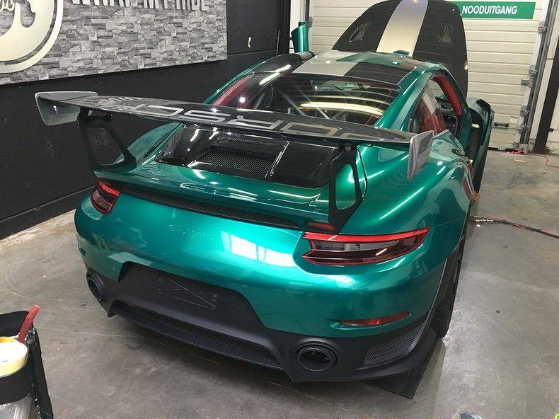 Porsche 911 GT2RS ASW Dark Grey Pearl, Carwrapping door Wrapmyride.nu Foto-nr:12242, ©2019