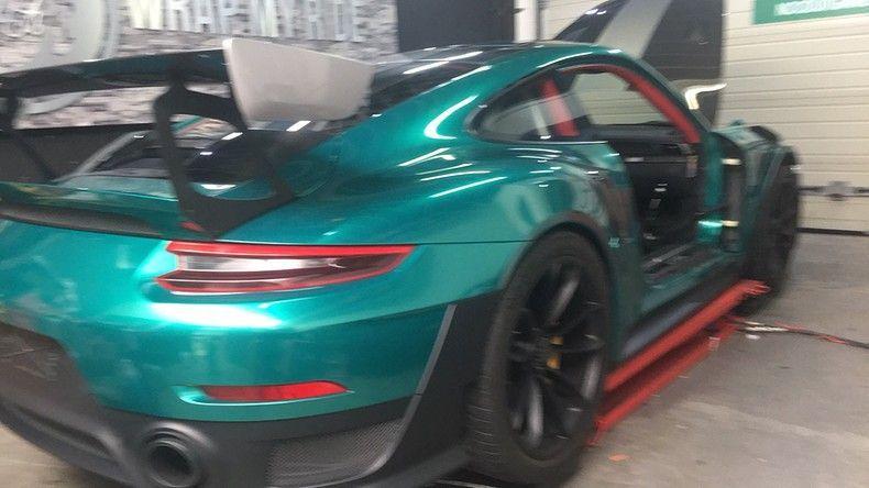 Porsche 911 GT2RS ASW Dark Grey Pearl, Carwrapping door Wrapmyride.nu Foto-nr:12241, ©2019