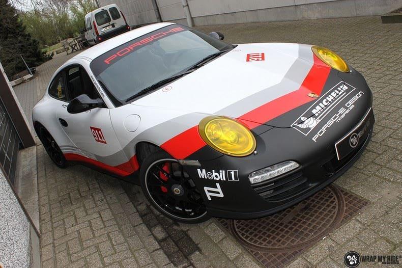 Porsche 911 RSR look, Carwrapping door Wrapmyride.nu Foto-nr:9775, ©2019