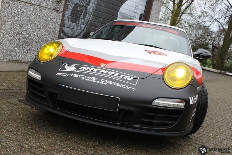 Porsche 911 RSR look, Carwrapping door Wrapmyride.nu Foto-nr:9779, ©2020