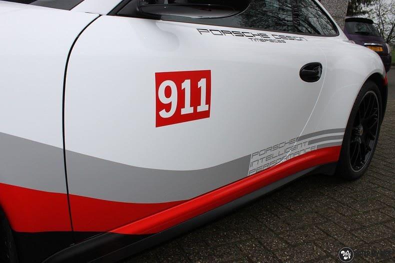Porsche 911 RSR look, Carwrapping door Wrapmyride.nu Foto-nr:9785, ©2020