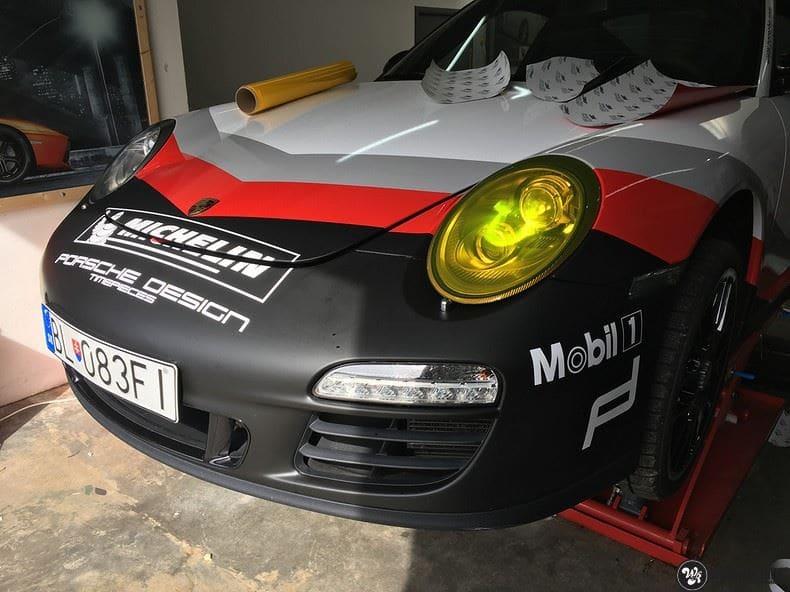 Porsche 911 RSR look, Carwrapping door Wrapmyride.nu Foto-nr:9805, ©2020