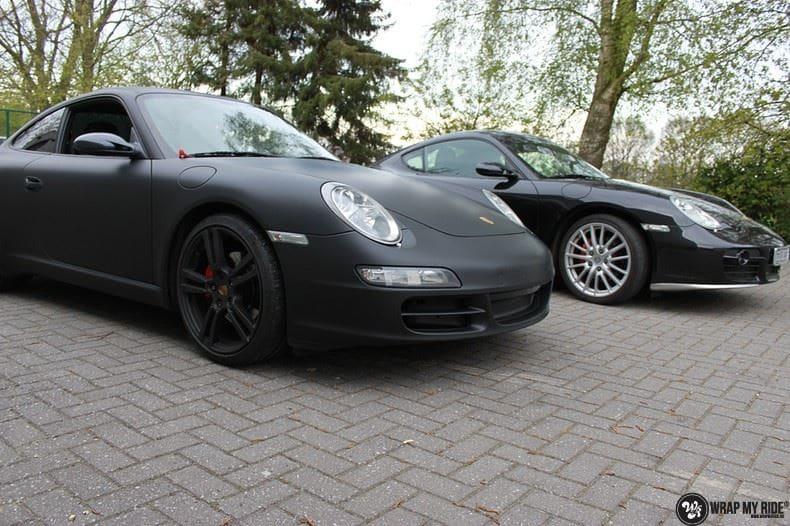 Porsche 997 mat zwart, Carwrapping door Wrapmyride.nu Foto-nr:9066, ©2020