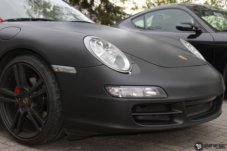 Porsche 997 mat zwart, Carwrapping door Wrapmyride.nu Foto-nr:9065, ©2020