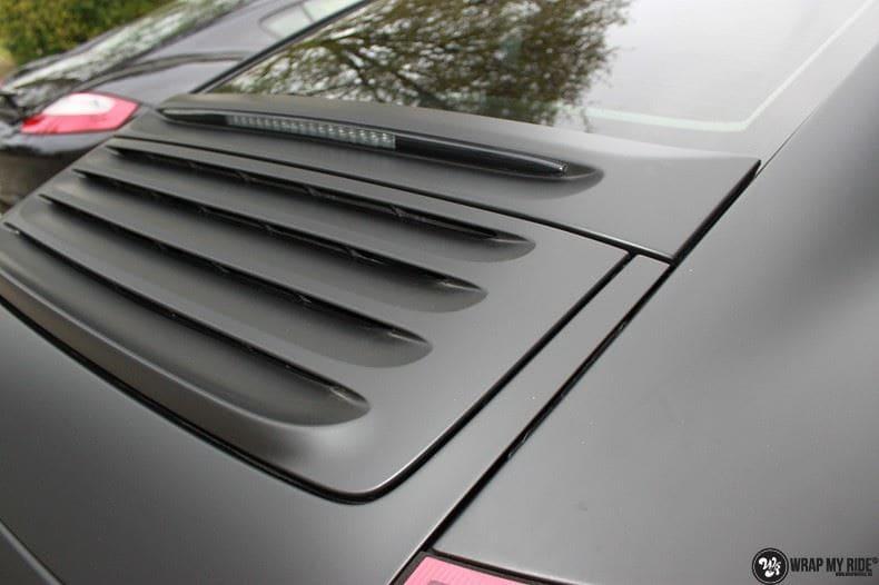 Porsche 997 mat zwart, Carwrapping door Wrapmyride.nu Foto-nr:9063, ©2020
