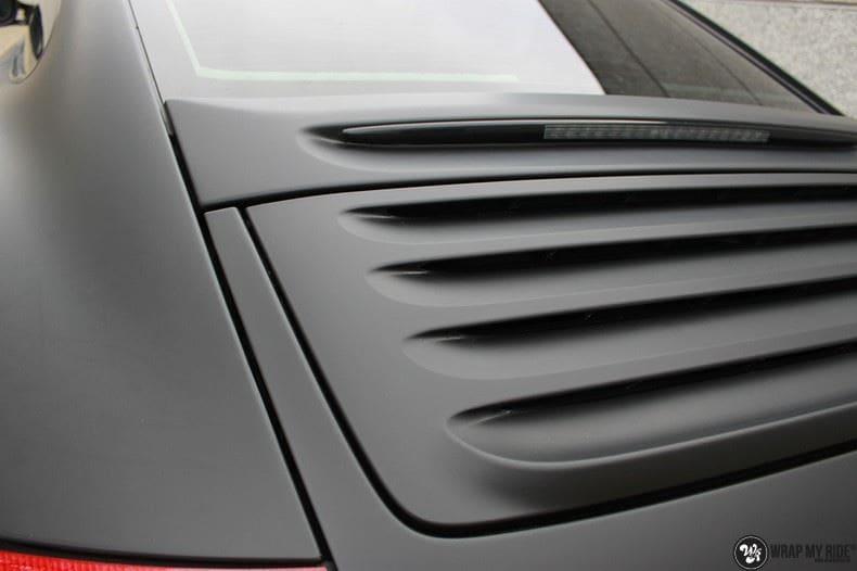 Porsche 997 mat zwart, Carwrapping door Wrapmyride.nu Foto-nr:9062, ©2021
