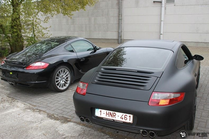 Porsche 997 mat zwart, Carwrapping door Wrapmyride.nu Foto-nr:9061, ©2020