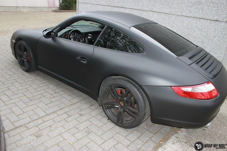 Porsche 997 mat zwart, Carwrapping door Wrapmyride.nu Foto-nr:9060, ©2020