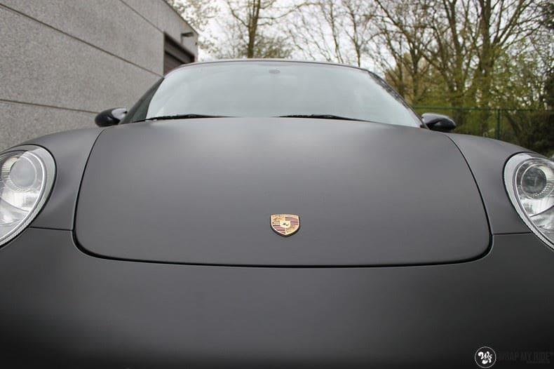 Porsche 997 mat zwart, Carwrapping door Wrapmyride.nu Foto-nr:9055, ©2020