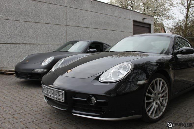 Porsche 997 mat zwart, Carwrapping door Wrapmyride.nu Foto-nr:9054, ©2020