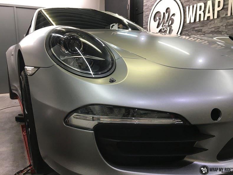 Porsche 997 Satin White Aluminium, Carwrapping door Wrapmyride.nu Foto-nr:9676, ©2020